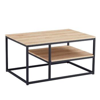 Konferenčný stolík, dub sonoma/čierna, BARMIO