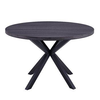 Jedálenský stôl, grafit/čierna, MEDOR