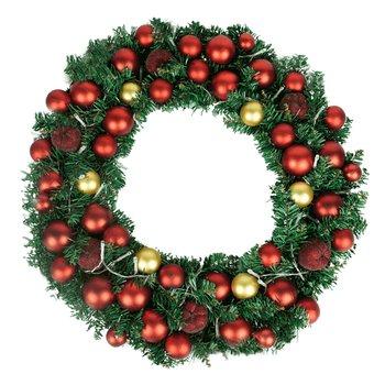 Vianočný veniec s LED svetielkami a dekoráciami, ARLO