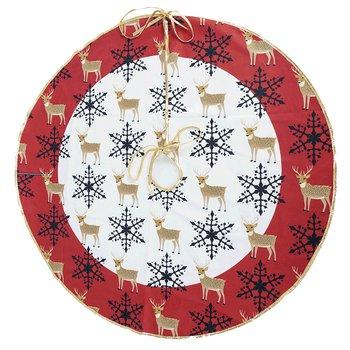 Podložka pod vianočný stromček, červená/biela, 0,8 m, FILOMENA