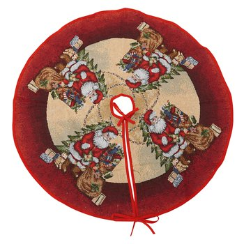Podložka pod vianočný stromček, červená/béžová, 1 m, GORGINA