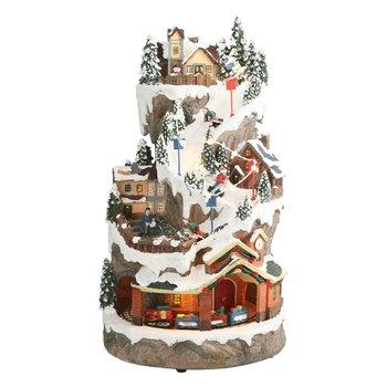Vianočná zvonkohra, biela, čierna/vianočný motív, JOACHIM