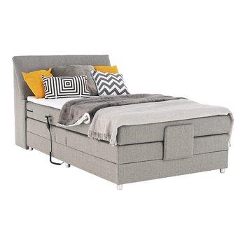 Elektrická polohovacia posteľ, boxpring, sivá, 120x200, GERONA