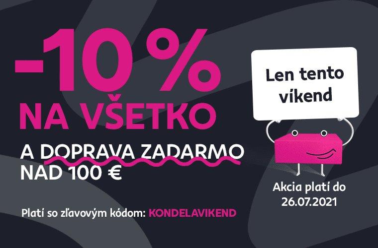 - 10 % zľava na všetko